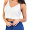 Ivory v neck knitted crop top | emprada