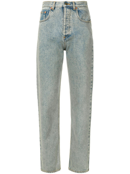 gucci jeans embroidered jeans embroidered women 23 leather cotton blue