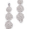 Kate spade new york crystal rose linear earrings - clear/silver