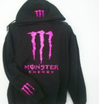 sweater monster energy black sweater pink print