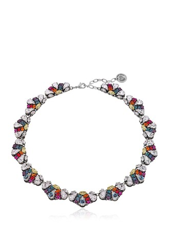 necklace rainbow silver jewels