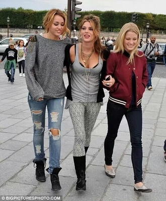 jeans pants miley cyrus ashley green movie sweater