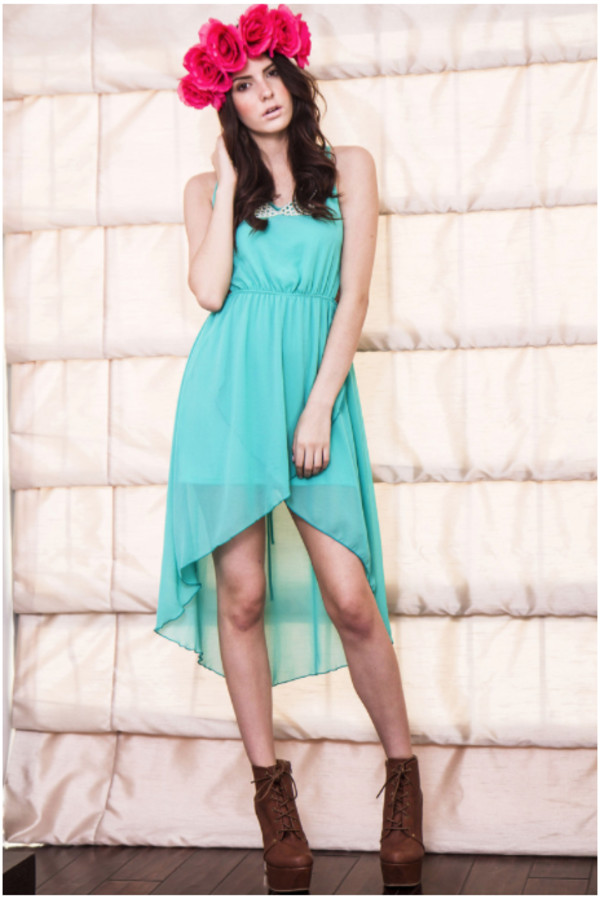 dress chiffon dress dress collared tulip hem dress pearl collared dress maxi dress mint dress