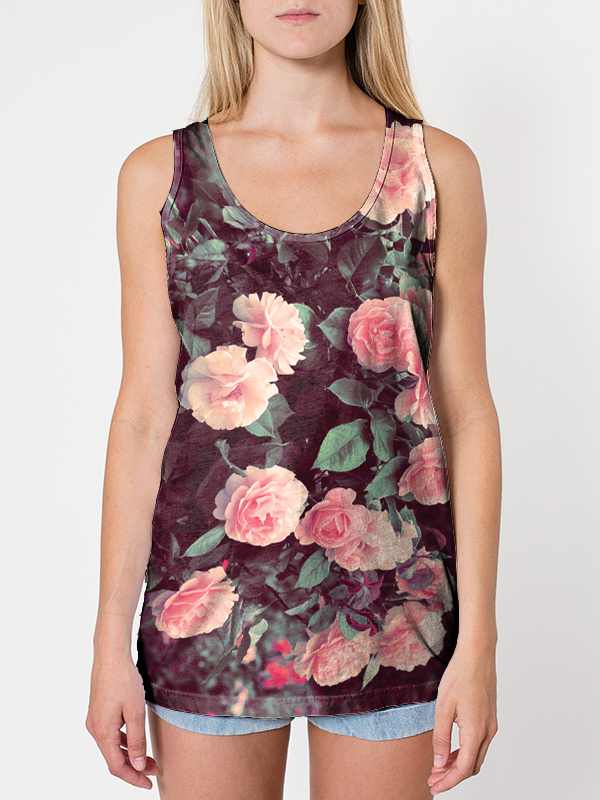 Pineberry — Unisex Roses All-Over tanktop