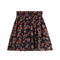 Printed silk chiffon skirt