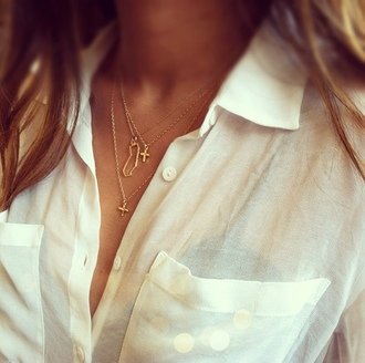 jewels california necklace gold gold necklace cross necklace