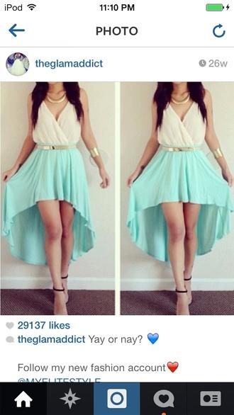 winter dance blue skirt white top cute dress blue dress
