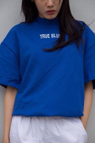 shirt true blue blue aesthetic pale soft grunge soft grunge health goth minimalist