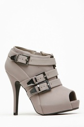 shoes,ankle boots,grey boots,high heels boots,peep toe boots