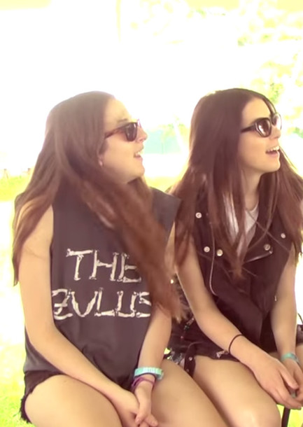 Top Haim T Shirt Zulus Band Sleeveless Alana Haim