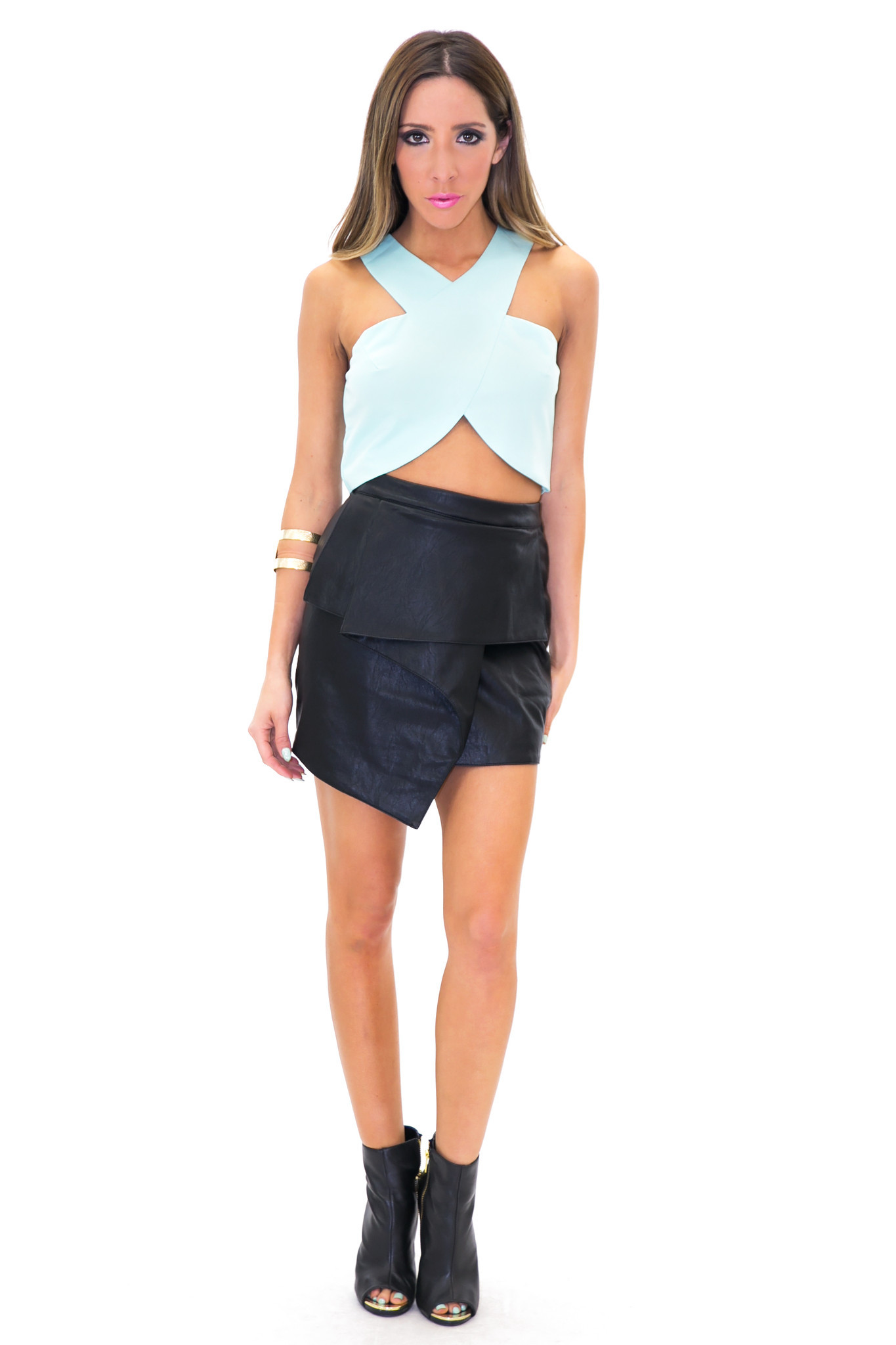 RECKER CROSS CROP TOP - Pistachio | Haute & Rebellious