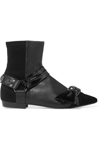 suede ankle boots boots ankle boots leather suede black shoes