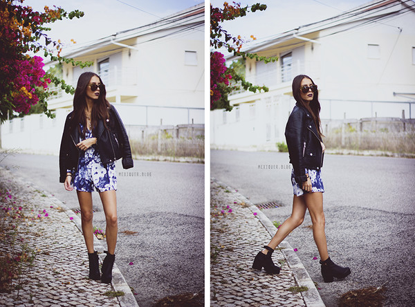 mexiquer blogger sunglasses jacket romper shoes