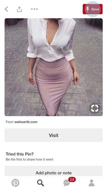 skirt pink skirt white blouse