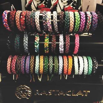 jewels rastaclat shoelace bracelets