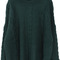 Green long sleeve batwing loose pullovers sweater - sheinside.com