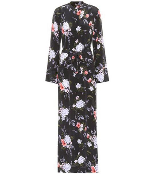 Equipment dress shirt dress maxi silk black