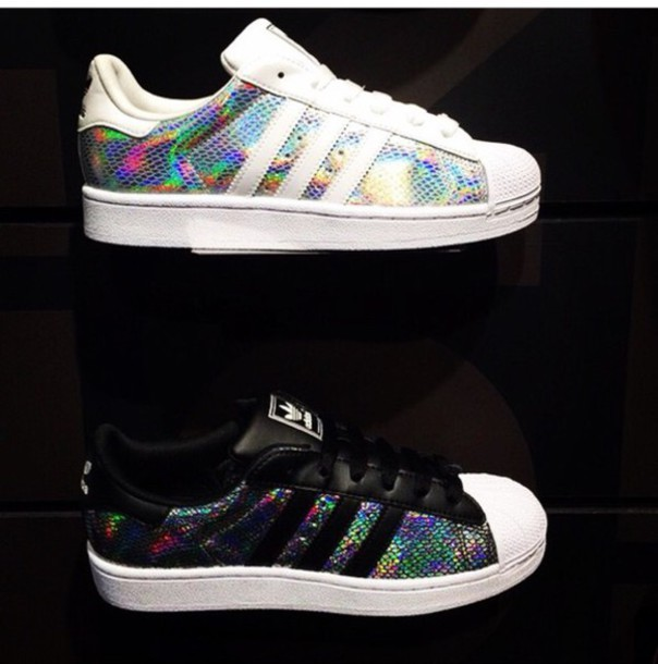 adidas superstar ii metallic white trainers