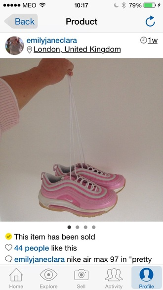 shoes air max 97 light pink pretty in pink pink nike air