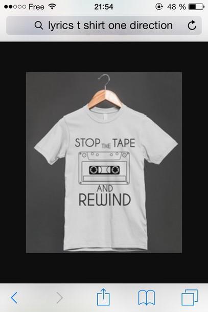 t-shirt one direction lyrics