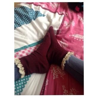 t-shirt frilly socks burgundy disney tumblr tumblr clothes i want the socks cute