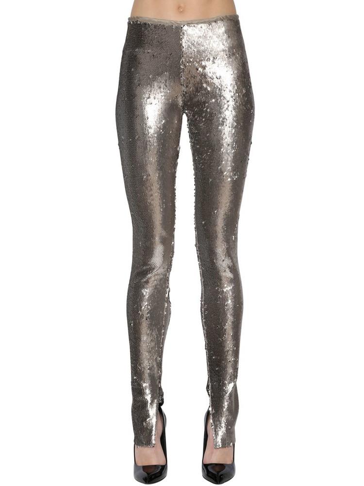 AZZARO Sequined Leggings in black / silver