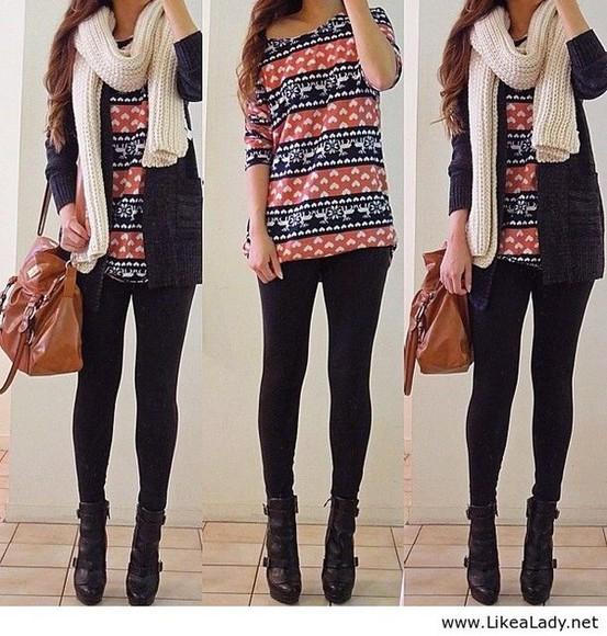 winter sweater winter outfits winter boots t-shirt