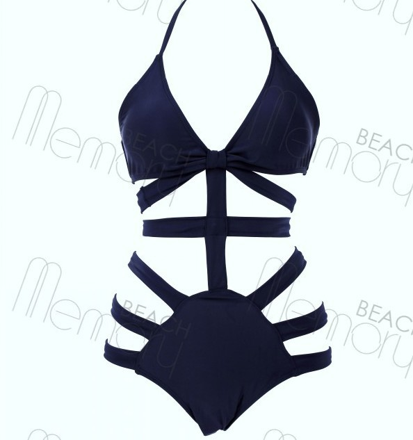 2014 new High Quality Fashion NEW Black Bandage Bikinis Hollow Out Wholesale Sexy Bikini Swimwear Black Bikini Swimsuit   B20-in Bikinis Set from Apparel & Accessories on Aliexpress.com
