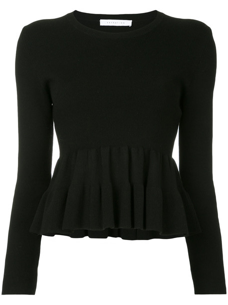 Estnation top pleated women black