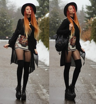 shoes grunge goth nu goth platform boots platform shoes boots hipster pirate boots cardigan skirt hat short white skirt
