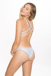 swimwear,frankies bikini,2016,bikini bottoms,braided,cheeky,print,seamless,stripes,white,bikiniluxe