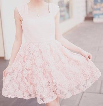 dress girl white dress pink dress floral dress skirt white skirt pink skirt floral skirt kfashion korean fashion