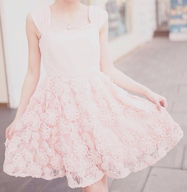 dress girl white dress pink dress floral dress skirt white skirt pink skirt floral skirt kfashion korean fashion