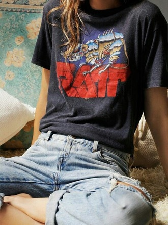 shirt t-shirt grey black vintage retro cute cool tumblr teenagers girl mechanical rat ratt fashion style 70s style 60s style 80s style 90s style grunge grey t-shirt graphic tee jersey hipster top branded multi alternative shirt jeans ripped ripped jeans boyfriend jeans