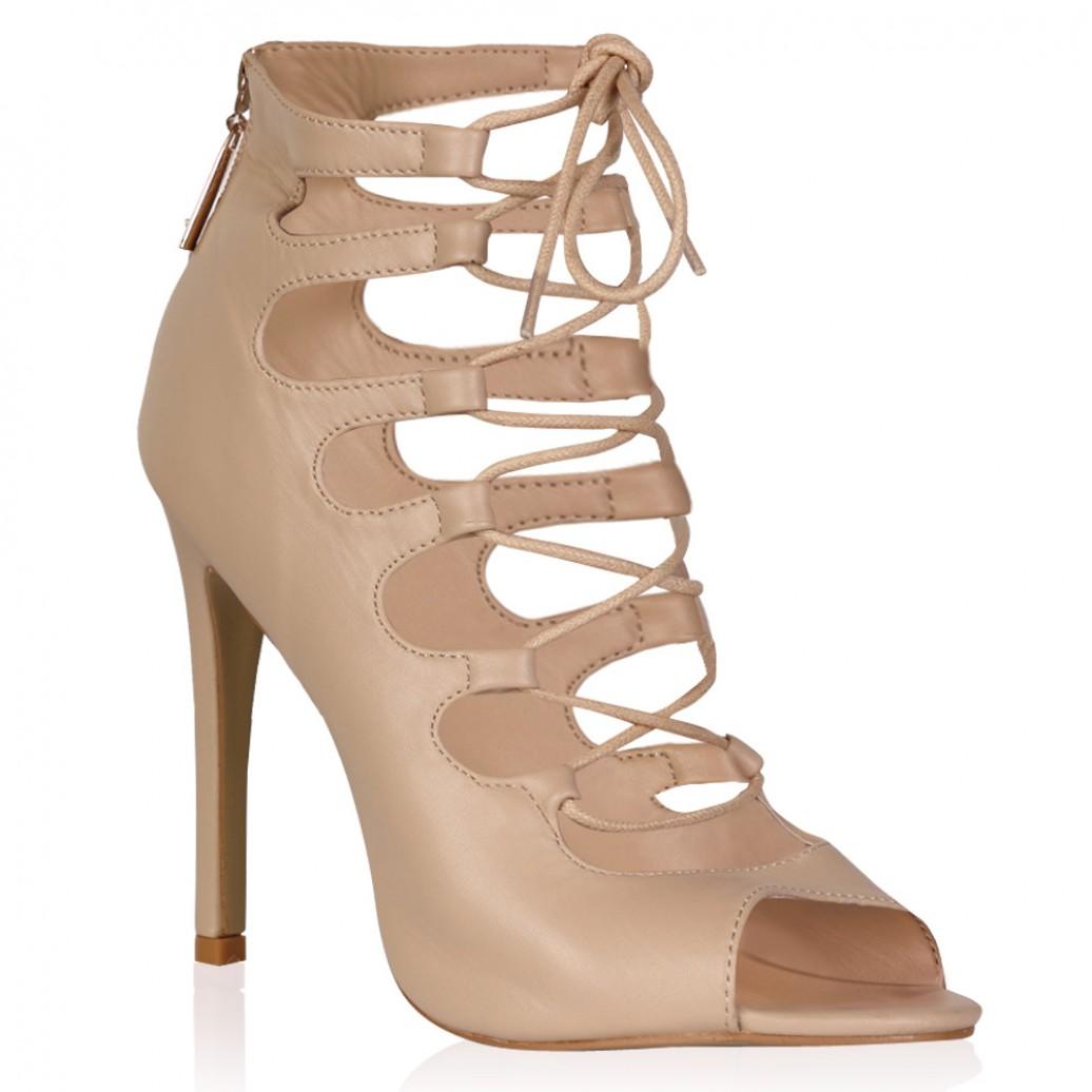 Nude Lace Heels - Is Heel
