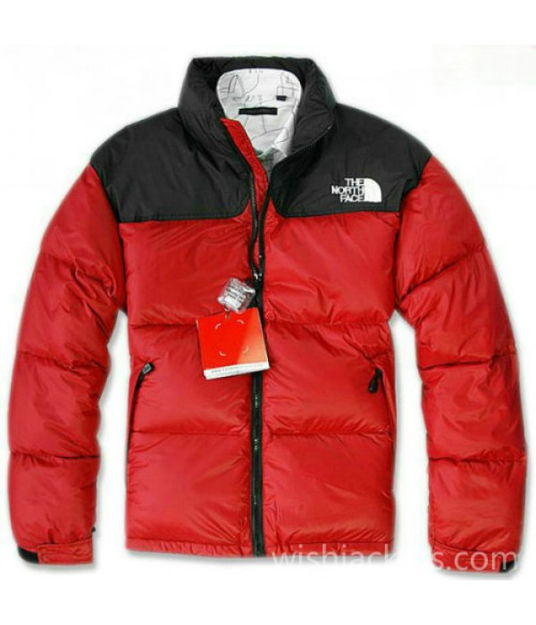 North Face Down Nuptse Mens Red Jacket Bj130163