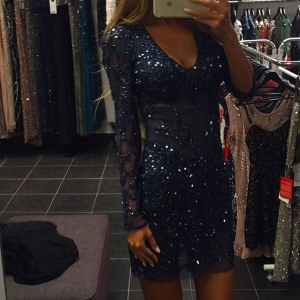 dress sequins bodycon sequin dress long sleeve dress