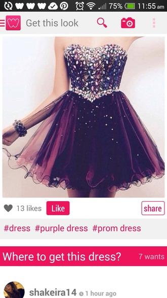dress purple dress prom dress short homecoming dress