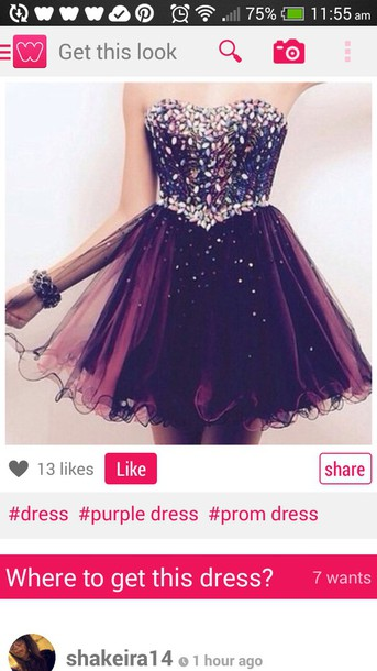 dress purple dress prom dress short homecoming dress