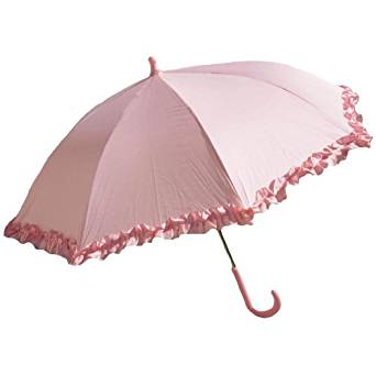 Amazon.com | Light Pink Girls Umbrella for Kids - Parasol Design with Ruffles | Umbrellas