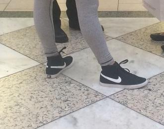 shoes nike black swish tumblr instagram cute sneakers white black and white b/w