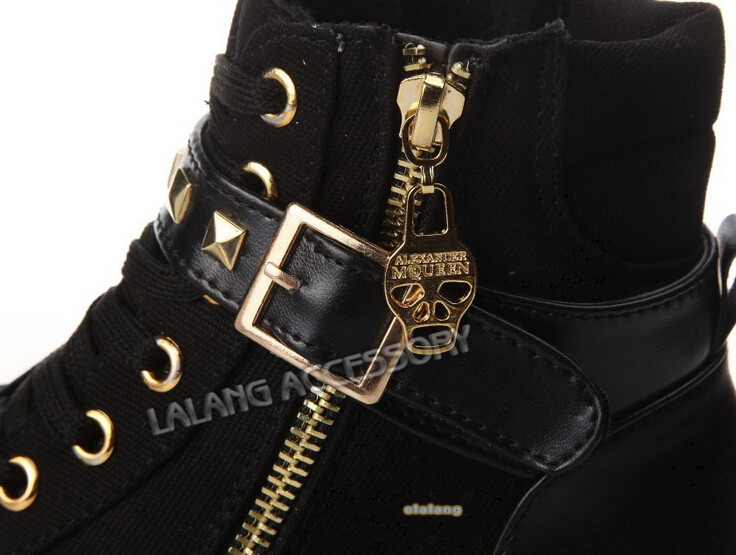2014 New Womens Casual Zipper Canvas Sport Buckle Rivet Sneakers shoelace anti slip shoes Black Blue White Boots 870806-in Boots from Shoes on Aliexpress.com