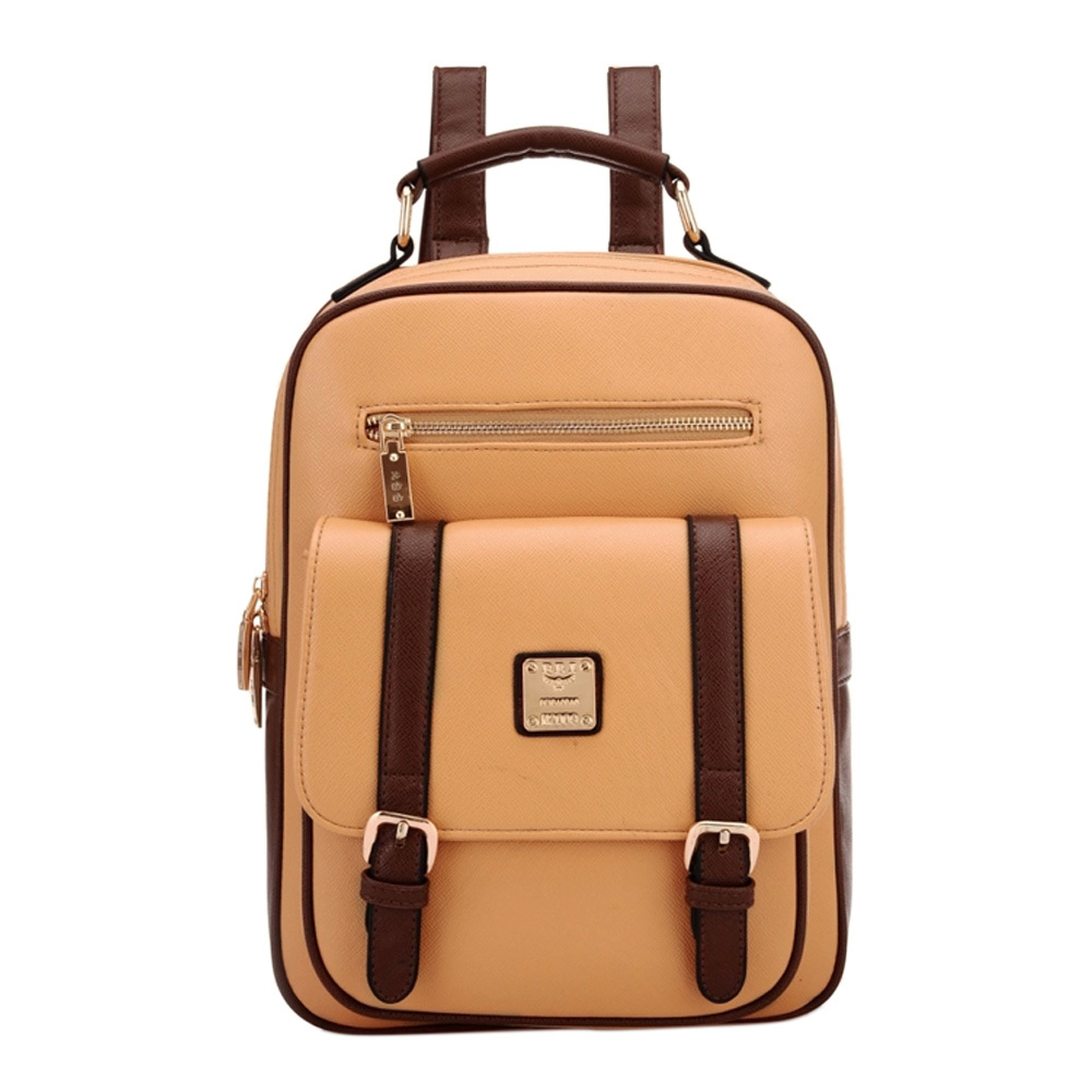 [grxjy5204231]retro contrast color backpack school travelling bag