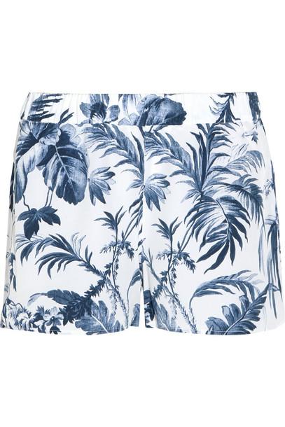 Equipment shorts pajama shorts silk light blue light blue