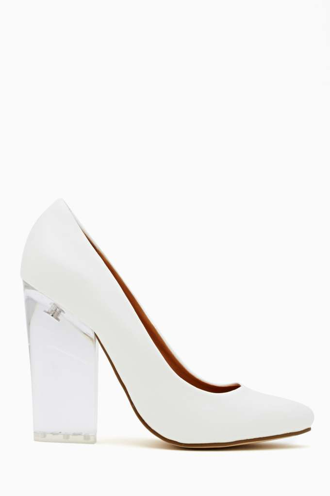 Shoe Cult Minx Pump - White in  Shoes at Nasty Gal