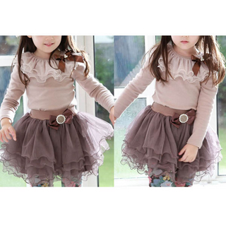 Fashion ribbon rhinestone bowknot gauze princess dress_$22.56