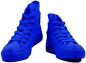 shoes,high top converse,converse,dark blue,royal blue chucks