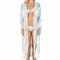 Tropical maxi cover up - pool robe crystals