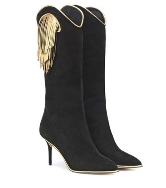 Charlotte Olympia Magnifico suede boots in black