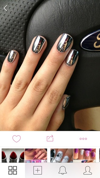 nail polish silver golden cool winter summer spring beautiful hands nails shiny